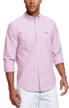 Lacoste Mens Long Sleeve Woven Button Up Shirt