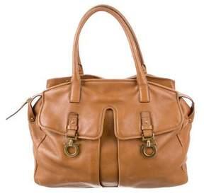 Salvatore Ferragamo Leather Gancini Accented Bag