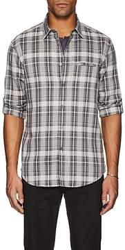 John Varvatos Men's Plaid Cotton-Blend Slim Shirt
