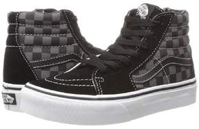Vans Kids Sk8-Hi (Checkerboard) Blk/Pewter Skate Shoe 10.5 Kids US