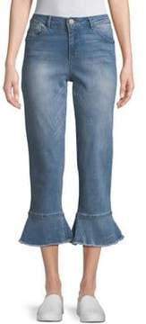 Democracy High-Rise Flounce Cropped Skinny Jeans