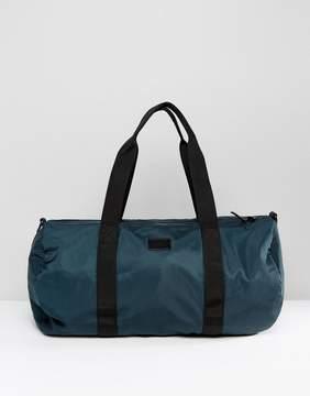 Asos Barrel Bag In Green Satin Look