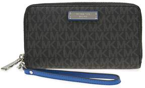 Michael Kors Large Multifunction Wallet - Black/Electric Blue - ONE COLOR - STYLE
