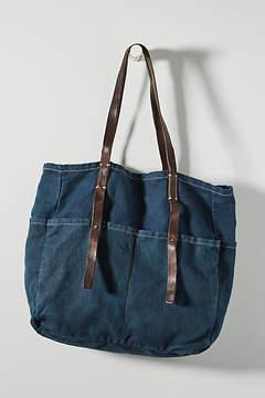 Anthropologie Lola Canvas Tote Bag