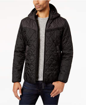 G Star Men's Myrow Slim-Fit Quilted Colorblocked Hooded Jacket