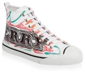 Burberry Kingly Printed Hi-Top Sneakers