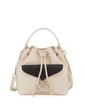 Love Moschino Faux-Saffiano Bucket Bag