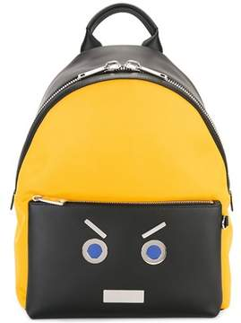 Fendi Men's Yellow/black Leather Backpack.