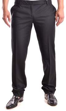 Richmond Men's Black Wool Pants.