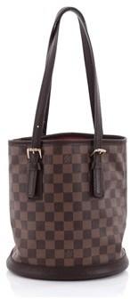 Louis Vuitton Pre-owned: Marais Bucket Bag Damier. - BROWN - STYLE