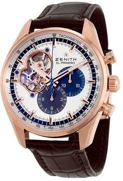Zenith El Primero Chronomaster 1969 Silver Dial Brown Leather Men's Watch
