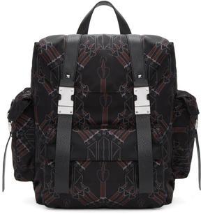 Valentino Black Garavani Love Blade Rockstud Backpack
