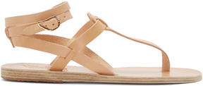Ancient Greek Sandals Beige Leather Estia Sandals