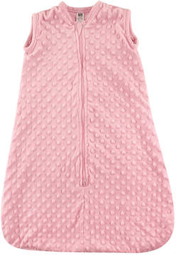 Hudson Baby Pink Dotted Plush Sleeping Zip-Up