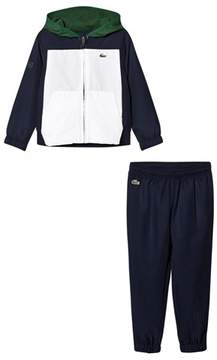 Lacoste Blue, White and Green Fleece Tracksuit