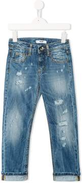 MSGM distressed faded jeans