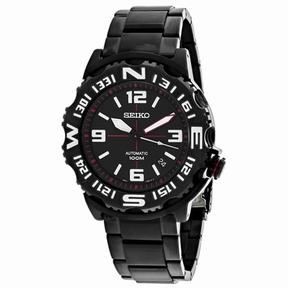 Seiko Superior SRP447K1 Men's Round Gunmetal Stainless Steel Watch