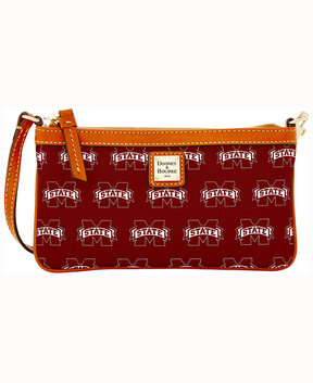 Dooney & Bourke Mississippi State Bulldogs Large Slim Wristlet - MAROON - STYLE