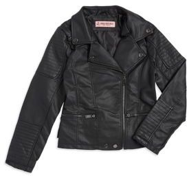 Urban Republic Girl's Zip-Front Faux Leather Jacket