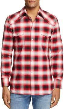 Marc Jacobs Western Plaid Slim Fit Snap Front Shirt