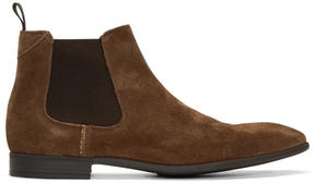 Paul Smith Tan Suede Falconer Chelsea Boots