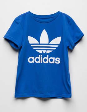 adidas Trefoil Blue Girls T-Shirt