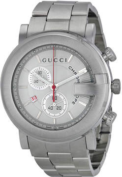Gucci 101 G-Round White Chronograph Men's Watch
