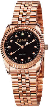 August Steiner Womens Rose Goldtone Strap Watch-As-8046rg