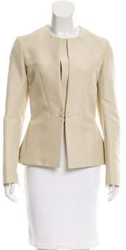 Calvin Klein Collection Collarless Structured Jacket