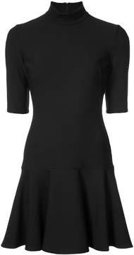 Black Halo peplum hem mini dress