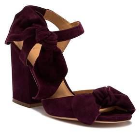 Bill Blass Carmen Bow Block Heel Sandal