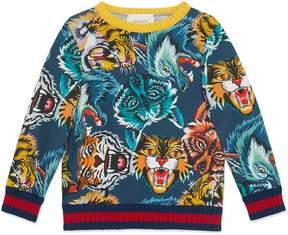 Gucci Children's animal faces print sweatshirt