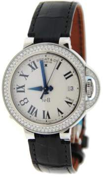 Bedat & Co 828.040.600 No.8 Stainless Steel & Leather Diamond Automatic 36.5mm Womens Watch