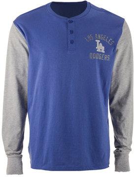 '47 Men's Los Angeles Dodgers Downfield Henley Long-Sleeve T-Shirt