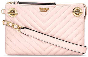 Victoria's Secret Victorias Secret Pebbled V-Quilt Glam Crossbody