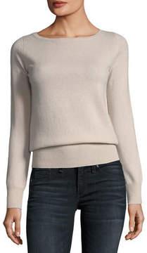 Neiman Marcus Classic Cashmere Bateau-Neck Sweater