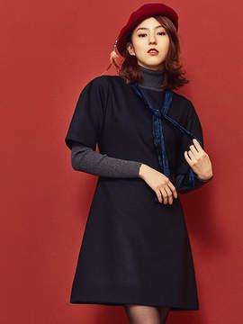 Blank Velvet Ribbon Dress Bk