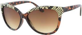 Kay Unger Tortoise Joelle Cat-Eye Sunglasses
