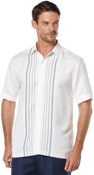 Cubavera Short Sleeve 100% Linen Ombre Stripe