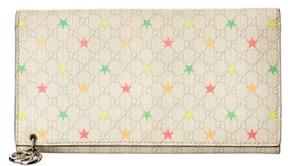 Gucci White Gg Supreme Canvas Stars Continental Wallet. - WHITE MULTI - STYLE
