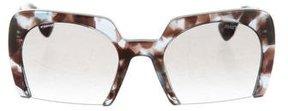 Miu Miu Marble Semi-Rimless Sunglasses