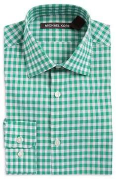 Michael Kors Boy's Gingham Plaid Dress Shirt