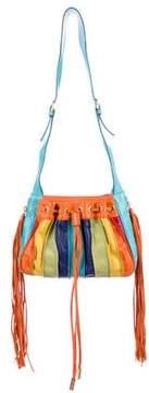 Dolce & Gabbana Striped Leather Bucket Bag