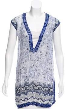 Calypso Printed Sequin Tunic