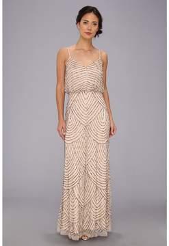 Adrianna Papell Long Deco Bead Blouson Women's Dress
