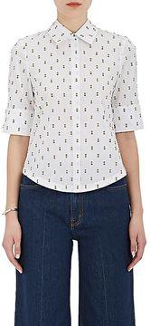 Derek Lam 10 Crosby Women's Flocked Cotton Poplin Shirt