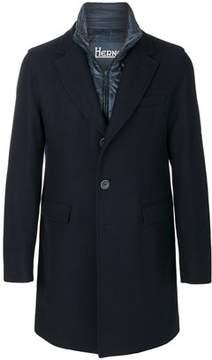 Herno Men's Blue Wool Coat.