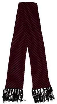 Saint Laurent Wool Fringe Scarf