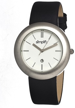 Simplify The 900 Leather-band Watch.