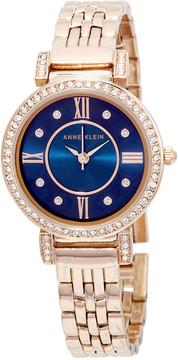 Anne Klein Swarovski Crystals Blue Dial Ladies Watch